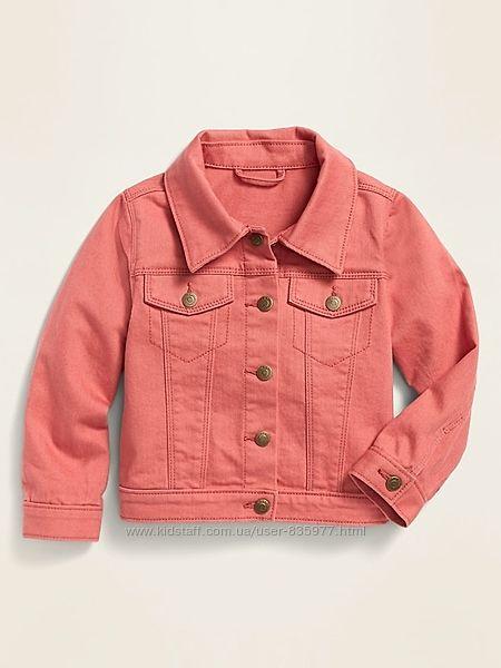 Розовый,  белый джинсовый пиджак куртка Картерс, Carters, Олд Неви 4-5