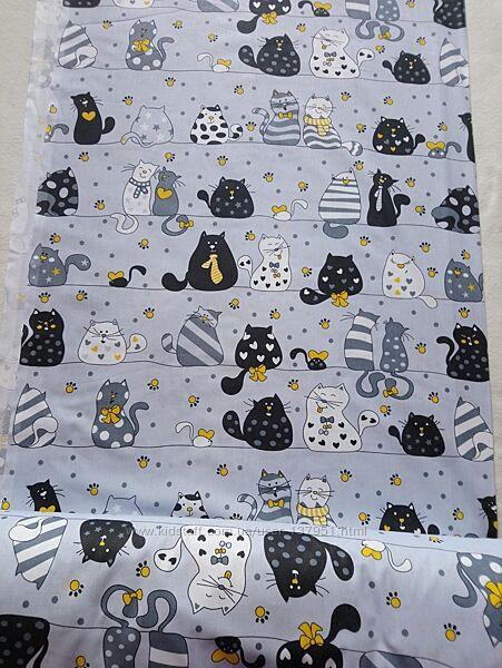 Бязь котики для постельного белья,