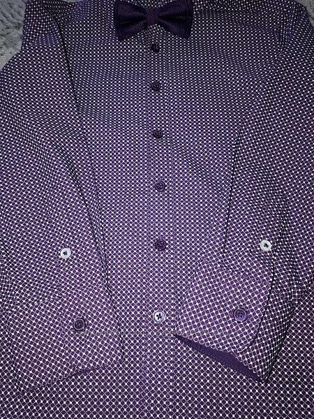 Нарядная рубашка с бабочкой С&А рост 122