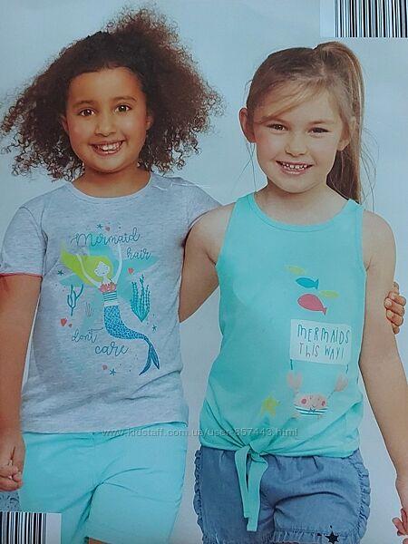 Комплект футболка и майка 2 шт, 98-104 см , impidimpi, германия