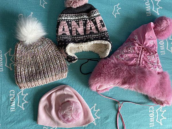 демисезонные зимние шапки на объём головы 47-54 см