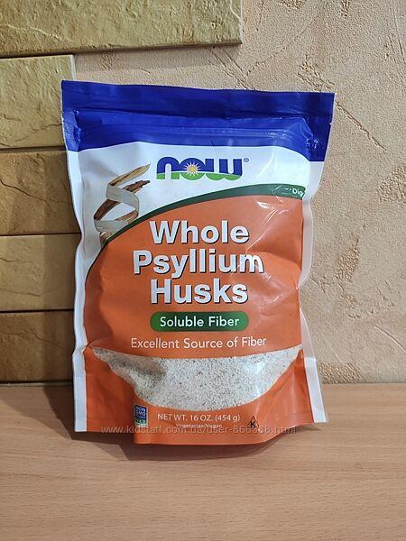 Now Foods, цельная оболочка семян подорожника, 454 г