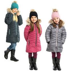 Стеганое детское зимнее пальто для девочки бренд НАНО NANO Канада 104 - 146