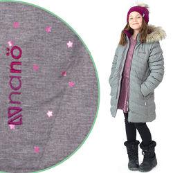 Детское зимнее пальто для девочки бренд НАНО Канада стеганое легкое, теплое