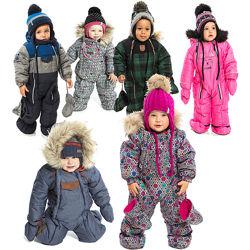 Детский зимний комбинезон для девочки мальчика термо бренд НАНО NANO ПЕЛЮШ