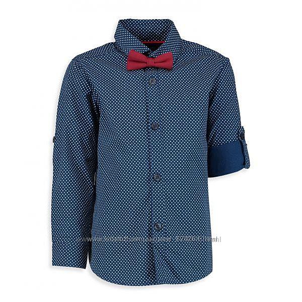 Хлопковая нарядная рубашка lc waikiki р.116-122 с бабочкой