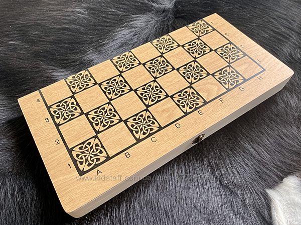 Набор 2 в 1 шашки, нарды