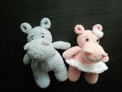 Бегемот игрушка амигуруми