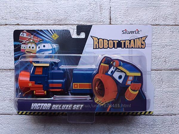 Набор Silverlit Robot trains Паровозик Виктор с двумя вагонами 80179