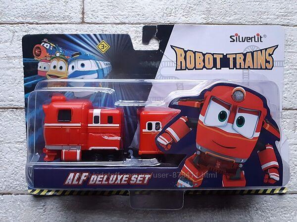 Игровой набор Silverlit Robot Trains Паровозик с двумя вагонами Альф 80180