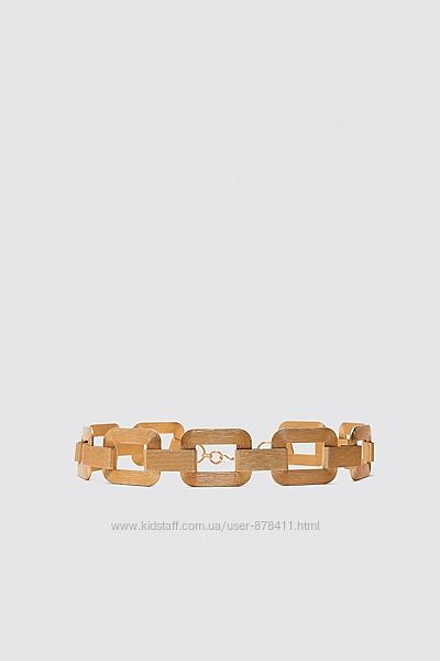 Новый пояс Zara золото золотой из Испании р. 80
