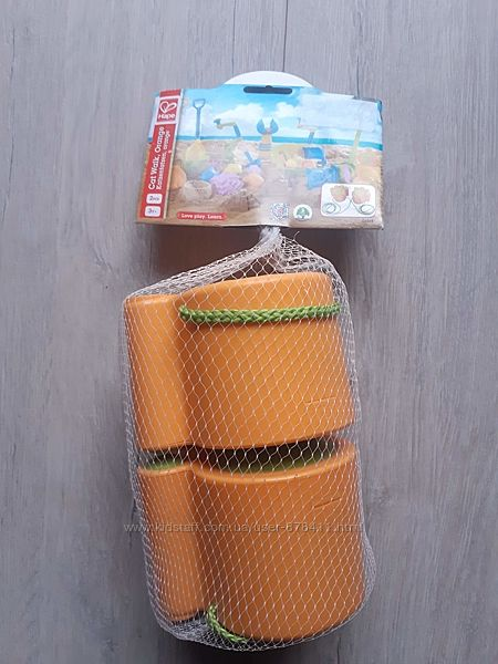 Іграшка для піску Hape Котячі лапки Жовтогарячі E4014
