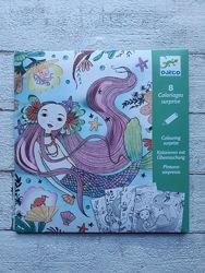 Художній комплект Djeco для малювання розмальовка Глибоке море DJ09628
