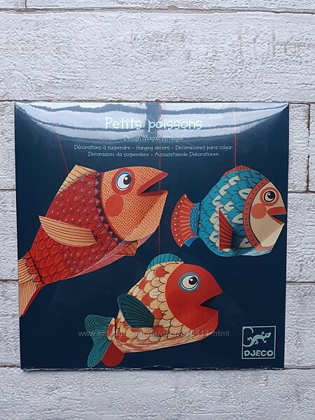 Іграшка підвісна для дитячої кімнати Декор підвіс Маленькі рибки DD04953