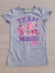 Новая футболка 4-5 лет, 110 см. оригинал из Англии Moshi Team Mind Candy