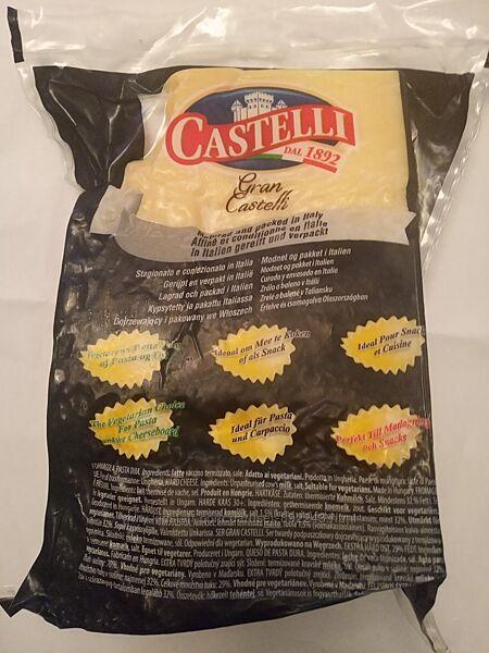 Твердый сыр, Gran Castelli 1kg, Grana Padano, Грана Падано, от 3кг. Сир