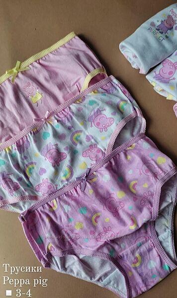 Трусики для девочки свинка пеппа peppa pig комплект трусыків 3 шт 98-104