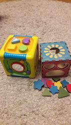 Продам музыкальный и деревянный куб