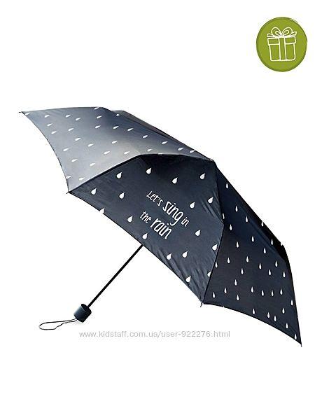 Стильный компактный зонт-полуавтомат Капли от Ив Роше
