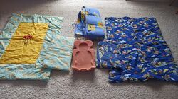 Одеяло и подушка детские, защита для кроватки