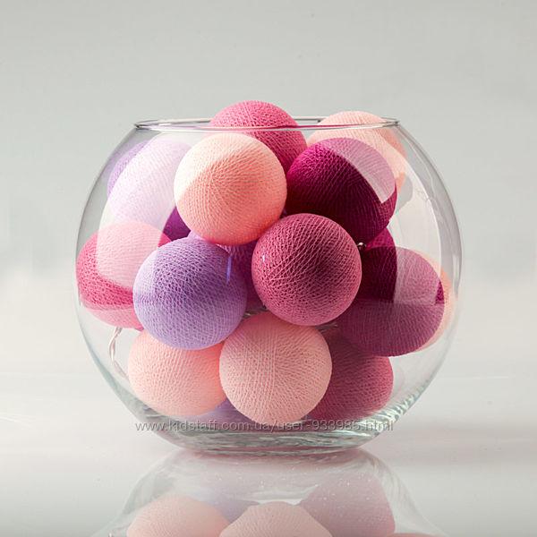 Гирлянда шарики фонарики My Lilac Days, 20, 35 и 50 шт
