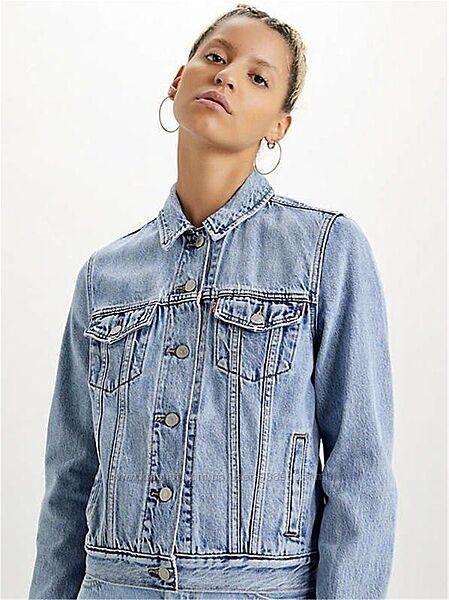 Синяя голубая джинсовая куртка пиджак levis levis левайс джинсовка оригина