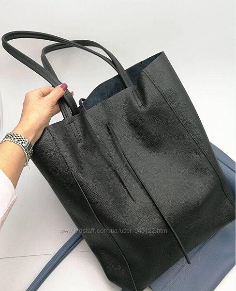 Итальянские шопперы в цвете Женская кожаная сумка Италия шоппер TS000092
