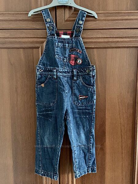 Полукомбинезон джинсовый утепленный Cool Club р.86