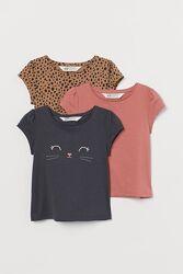 Комплект футболок для дівчаток від H&M Англія
