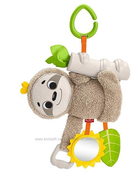 Ленивец Фишер-Прайс Fisher-Price Slow Much Fun Stroller Sloth