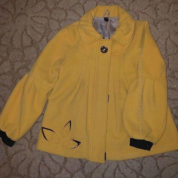 Пальто демисезонное для девочки, рост 134