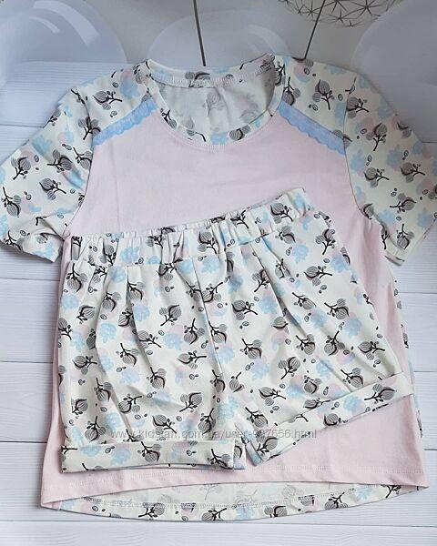Летняя пижама 3-ка , штаны, шорты , футболка . Пижамка отменное качество