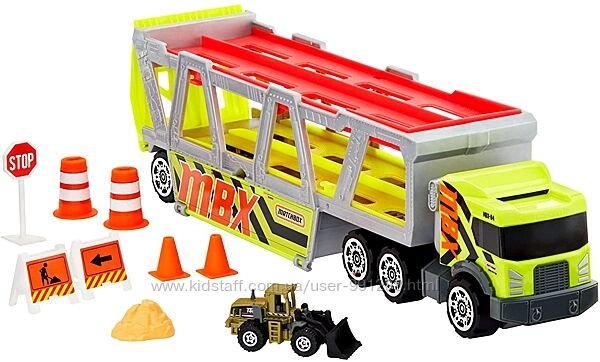 Машина грузовик автовоз трейлер с трактором Матчбокс Matchbox Оригинал Hot