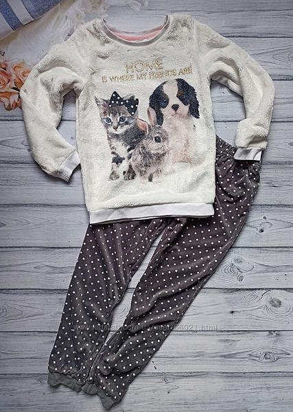 Пижамка, домашний костюм h&m для девочки 7-8 лет.