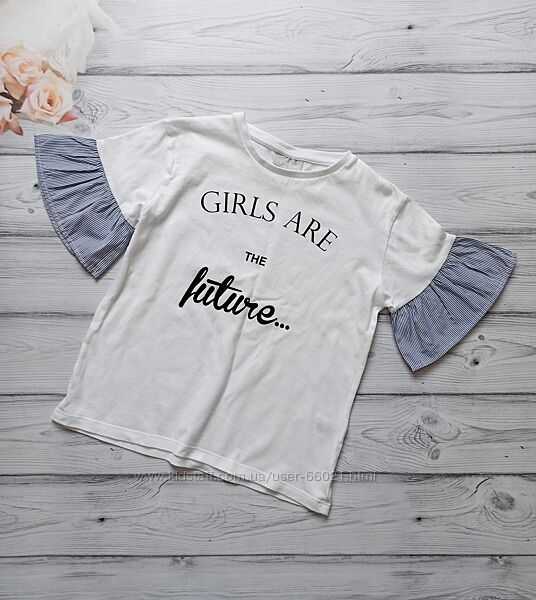 Стильная футболка matalan для девочки 8-9 лет