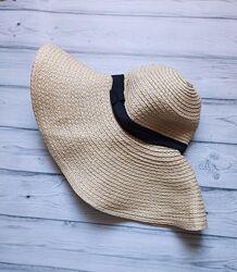 Шляпа с широкими полями h&m на объём головы 56-58 см