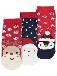 Новогодние нарядные носочки M&S, George, Matalan. Размеры 0-6-12-24 мес.