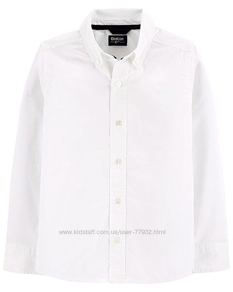 Рубашки Carters, OshKosh 10 лет,12 лет. Белая, мятная, в полоску, в клетку.