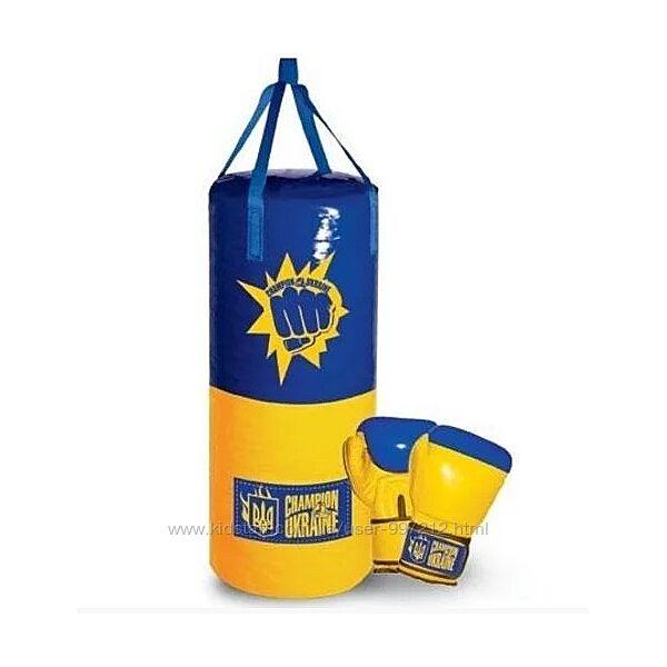 Детский Боксерский набор Бокс Україна большой груша для бокса боксерские
