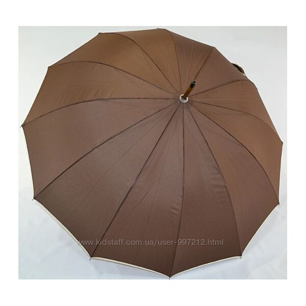 Зонт трость однотонный 115 см 12 карбоновых спиц женский зонт мужской зонт