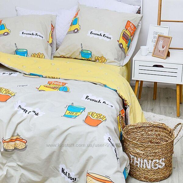 Подростковое полуторное постельное белье Viluta ранфорс рис.20141 хотдог
