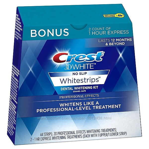 Полоски для зубов Crest 3D White Whitestrips Professional Effects 22шт