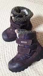 Зимние ботинки ecco р. 23 стелька 14.5 см экко зима сапожки