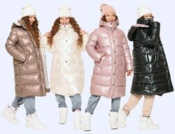 Теплейшая зимняя куртка пальто р. 116-164 возраст 5-16 лет