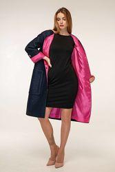 Пальто с рукавом 34 с накладными карманами рр. 44-54