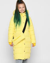 Удлиненная зимняя теплая куртка для девочки цвета рр. 32-42