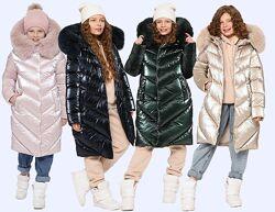 Куртка зима пуховик теплая удлиненная р. 32-42