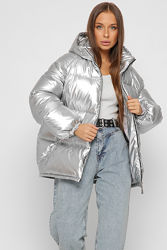 Объемная зимняя дутая куртка 2 цвета рр.46-48