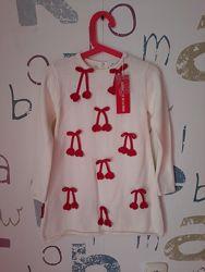 новое Платье теплое котон 5-6 лет116см