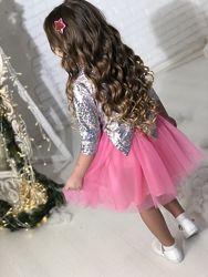 Шикарное нарядное платье голограмма от производителя